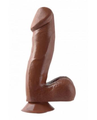 Gode réaliste marron 18 cm - Basix - Godes réalistes