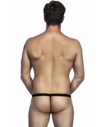 String noir avec poche pour pénis - Slips et strings