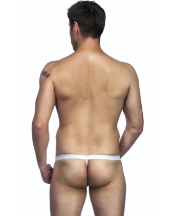 String blanc avec poche pour pénis - Slips et strings