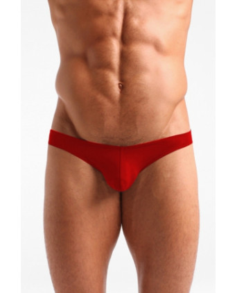 Slip rouge coton avec intimité préformée - Slips et strings