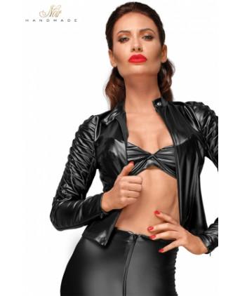 Blouson cintré biker F175 - Lingerie vinyle femme