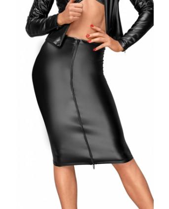 Jupe mi longue F177 - Lingerie vinyle femme