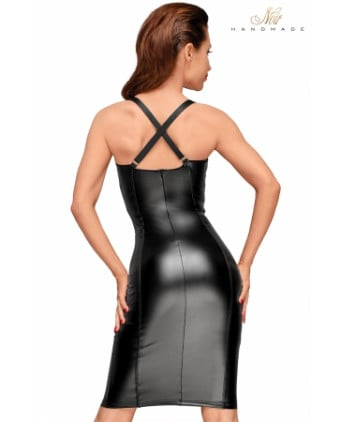 Robe moulante wetlook F180 - Robes sexy