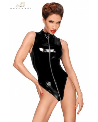 Body vinyle avec zip intégral F191 - Lingerie vinyle femme