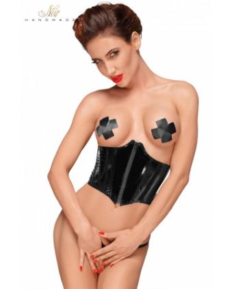 Corset serre-taille vinyle F193 - Lingerie vinyle femme