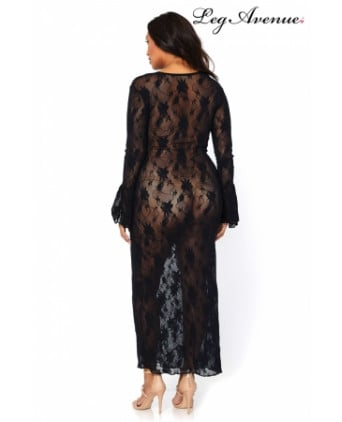 Robe longue stretch Queen Deep-V - Robes sexy