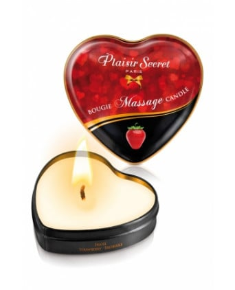 Mini bougie de massage Fraise - Massages érotiques