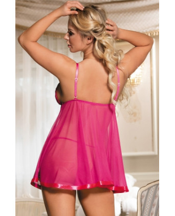 Babydoll rose transparente - Nuisettes sexy