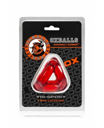 Oxballs Tri-Sport Cocksling - rouge - Cock and Balls