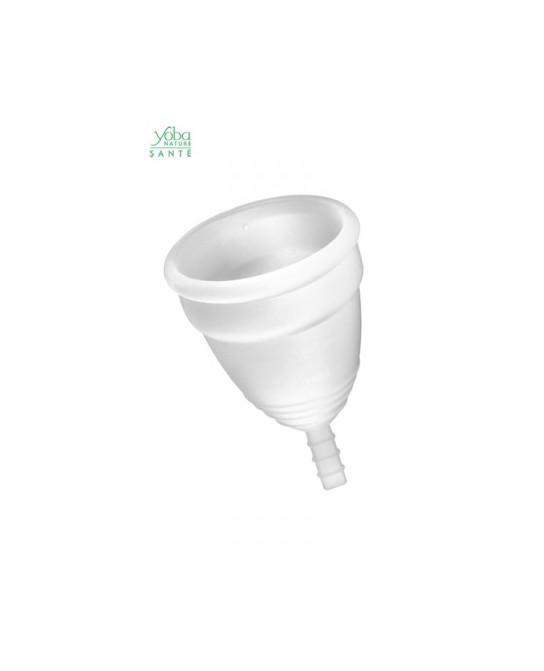 Coupe menstruelle Blanche Yoba Nature - Hygiènes, poires lav.