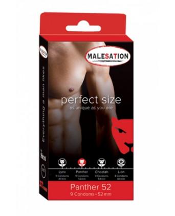 9 Préservatifs Perfect Size Panther 52 - Préservatifs