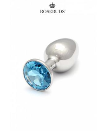 Rosebuds cristal medium aquamarine - Rosebud