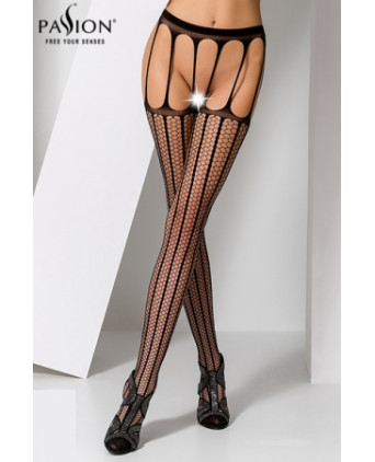 Collants ouverts S004 - Noir - Collants, bas