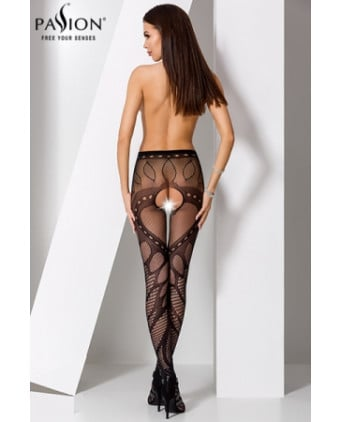 Collants ouverts S007 - Noir - Collants, bas