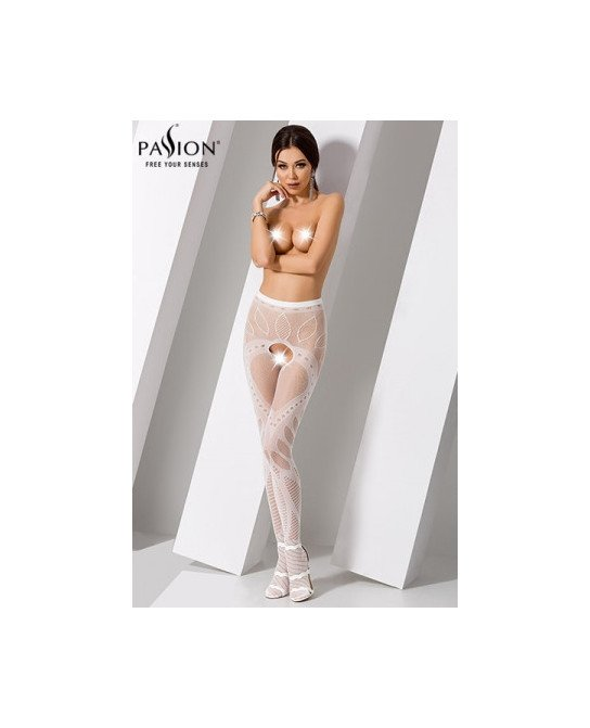 Collants ouverts S007 - Blanc - Collants, bas