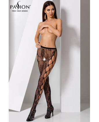 Collants ouverts S008 - Noir - Collants, bas
