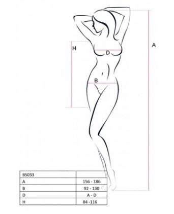 Robe résille BS033 - Blanc - Collants, bas