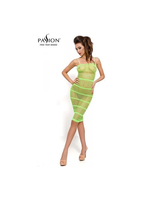 Robe résille BS033 - Vert - Robes sexy