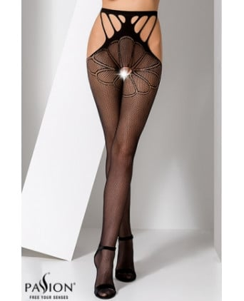 Collants ouverts S001 - Noir - Collants, bas