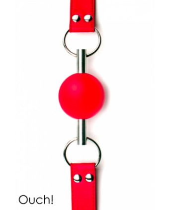 Solid Ball Gag rouge - Ouch!  - Baillons, gagballs
