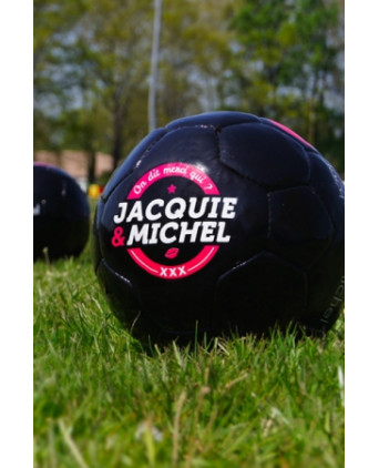 Ballon de foot J&M - Jacquie et Michel