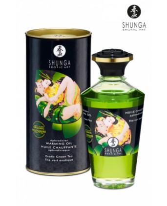 Huile chauffante aphrodisiaque Thé Vert  - Massages érotiques