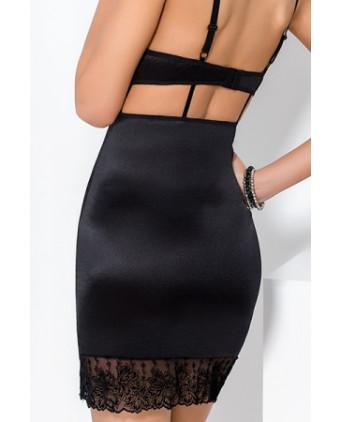 Robe lingerie Haya - Noir - Nuisettes sexy