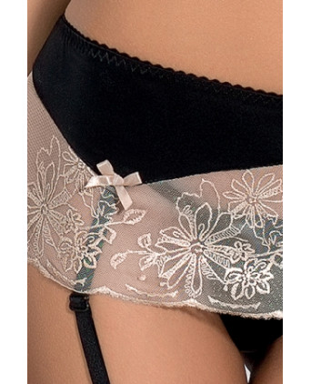 Lotus ensemble lingerie - Noir - Ensembles sexy