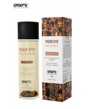 Huile massage BIO Oeil de Tigre Macadamia - Exsens - Massages érotiques