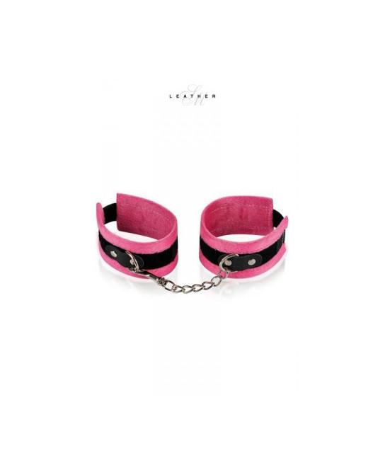 Menottes de poignets rose et noir - Attaches, contraintes