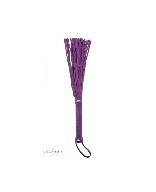 Martinet en cuir violet - Fouets, cravaches