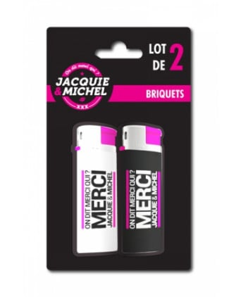Pack 2 Briquets Jacquie & Michel - Goodies J&M
