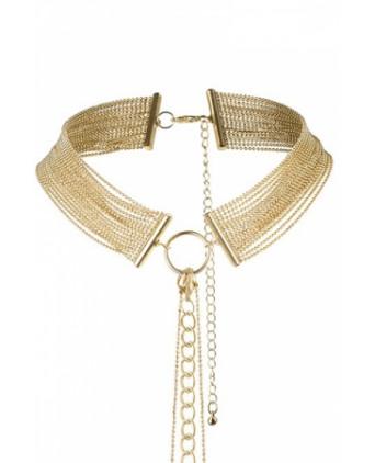 Collier en chainettes métalliques dorées - Fetish et Glamour