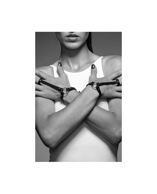Bracelet bague noir - Maze - Fetish et Glamour