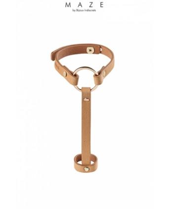 Bracelet bague marron - Maze - Fetish et Glamour
