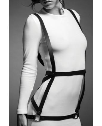 Robe harnais noire - Maze - Fetish et Glamour