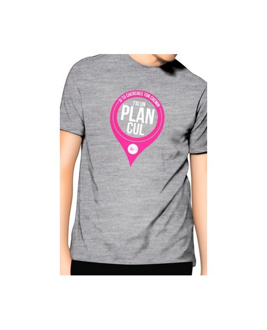 T-Shirt Jacquie et Michel J'ai un Plan cul - gris - T-shirts Homme