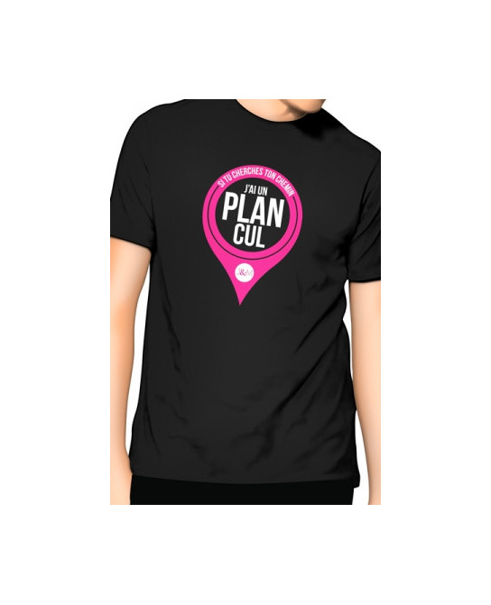 T-Shirt J&M J'ai un Plan cul - noir - T-Shirts J&M