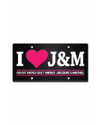 Plaque métal I love Jacquie et Michel  - Plaques décoratives
