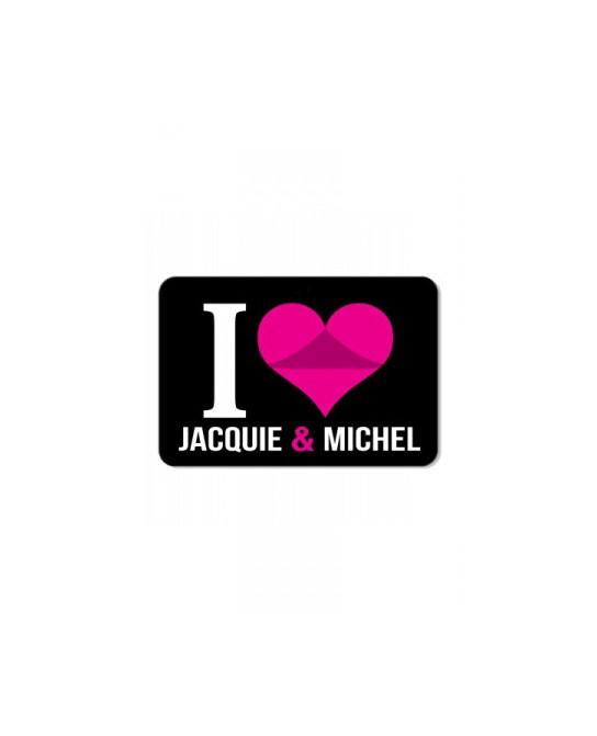 Plaque de porte I love J&M  - Plaques décoratives