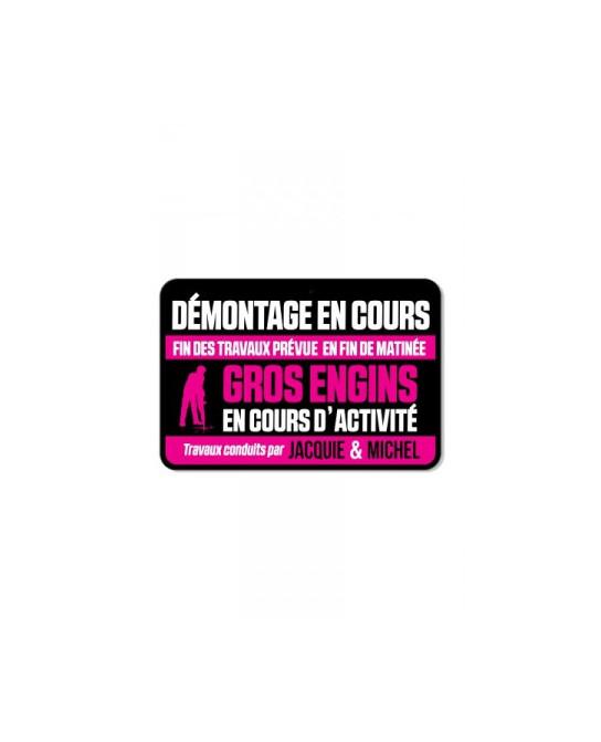 Plaque de porte J&M Démontage en cours - Déco Jacquie & Michel