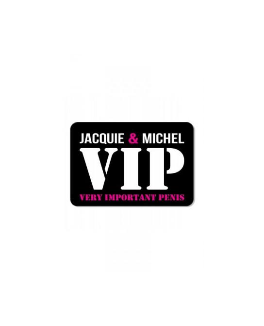 Plaque de porte J&M VIP - Déco Jacquie & Michel