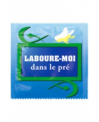 Préservatif humour - Laboure Moi Dans Le Pré - Préservatifs humoristiques