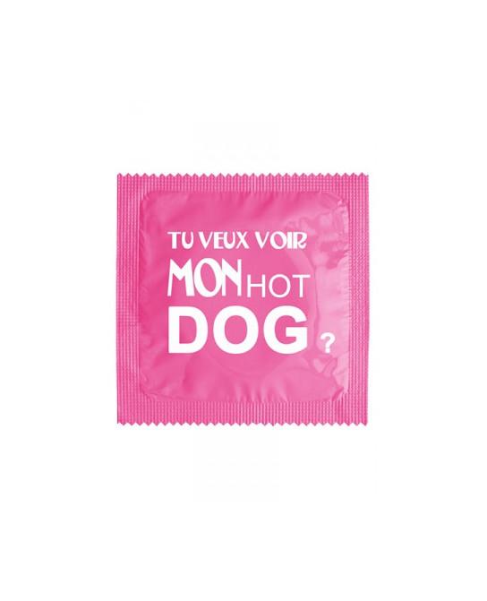 Préservatif humour - Tu Veux Voir Mon Hot Dog - Préservatifs humoristiques