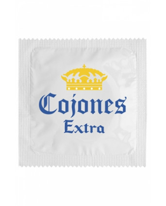 Préservatif humour - Cojones Extra - Préservatifs humoristiques