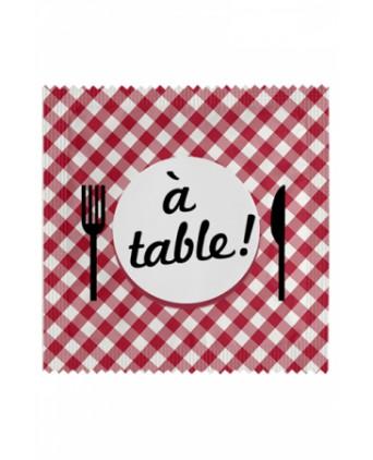 Préservatif humour - A Table - Préservatifs humoristiques