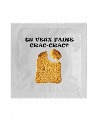 Préservatif humour - Crac Crac - Préservatifs humoristiques