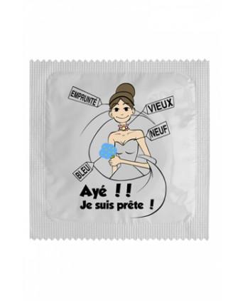 Préservatif humour - Ayé Je Suis Prête - Préservatifs humoristiques
