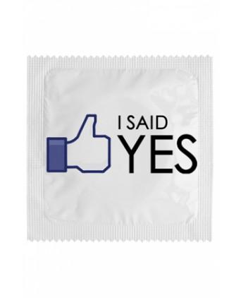 Préservatif humour - I Said Yes - Préservatifs humoristiques