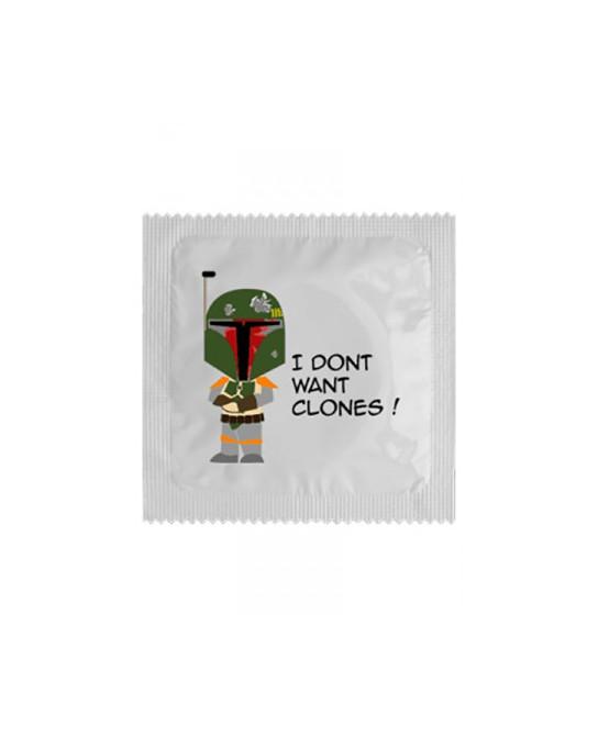 Préservatif humour - I Don't Want Clones - Préservatifs humoristiques